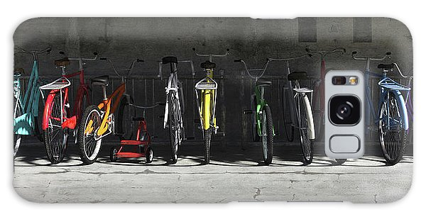 Horizontal Galaxy Case - Bike Rack by Cynthia Decker