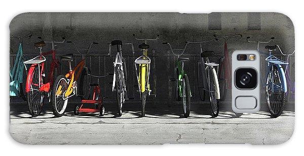 Transportation Galaxy Case - Bike Rack by Cynthia Decker