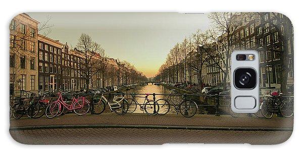 Bikes On The Canal Bridge Galaxy Case