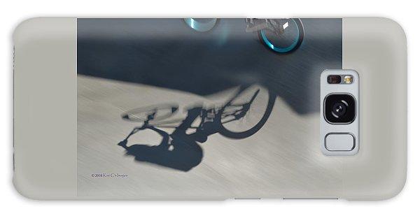 Biking The Skateboard Park 3 Galaxy Case by Kae Cheatham