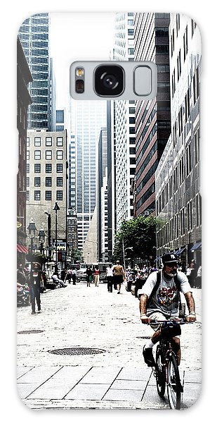 Biking The Streets Of New York City Galaxy Case by Susan Stone