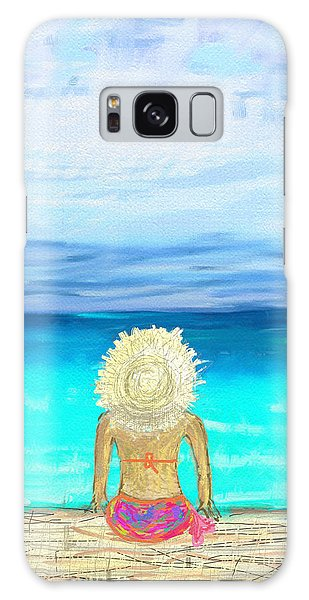 Bikini On The Pier Galaxy Case by Jeremy Aiyadurai