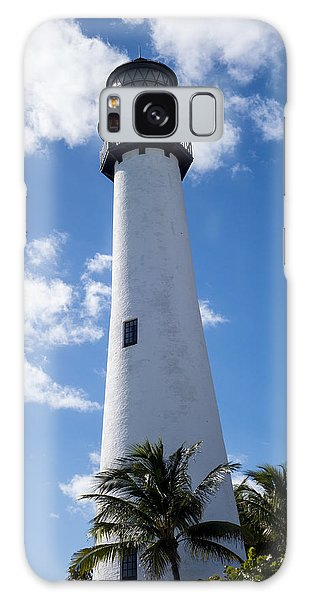 Bill Baggs Lighthouse Cape Florida State Park Palm Trees Galaxy Case