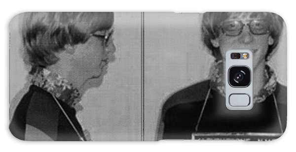 Bill Gates Mug Shot Horizontal Black And White Galaxy Case