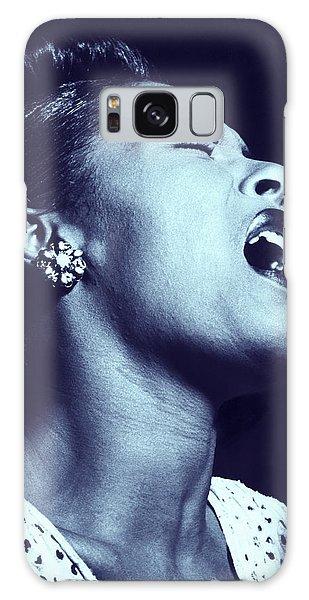 Galaxy Case featuring the digital art Billie Holiday Blues by Joy McKenzie