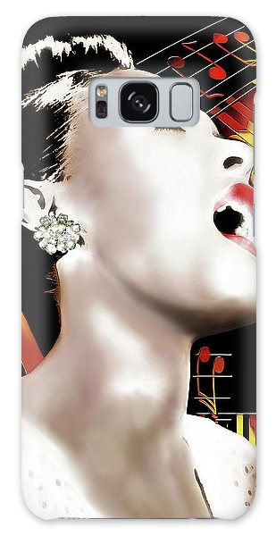Billie Holiday Galaxy Case by Pennie McCracken