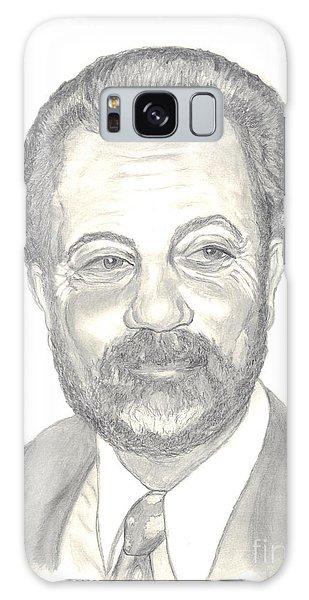 Billy Joel Portrait Galaxy Case by Carol Wisniewski