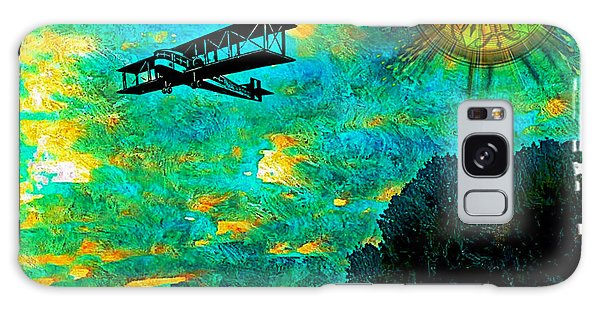 Biplane Galaxy Case by Iowan Stone-Flowers
