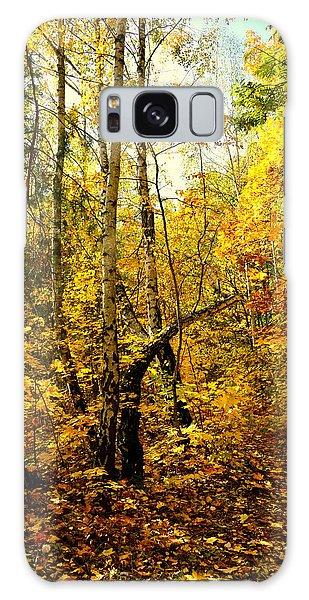 Birch Autumn Galaxy Case by Henryk Gorecki