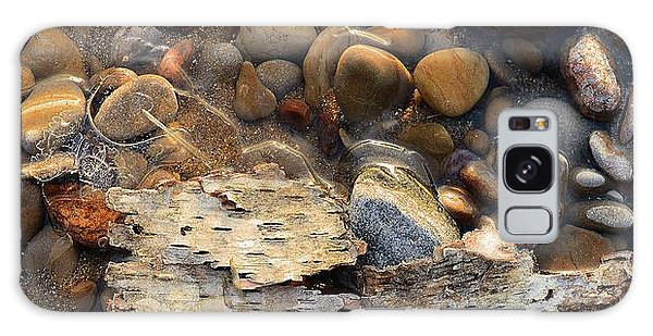 Birch Bark And Ice In The Creek Four  Galaxy Case