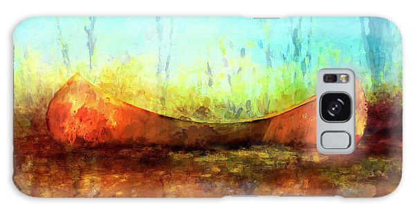 Birch Bark Canoe Galaxy Case