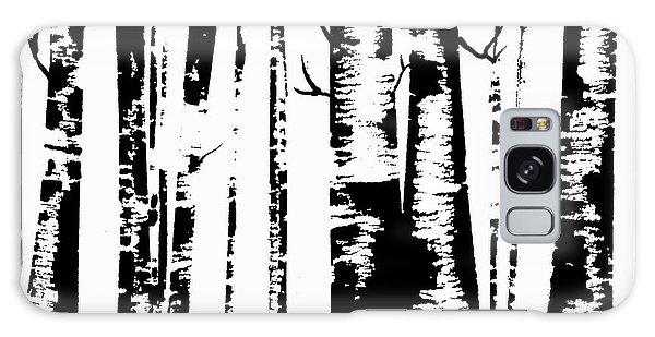 Birch Forest Black Galaxy Case