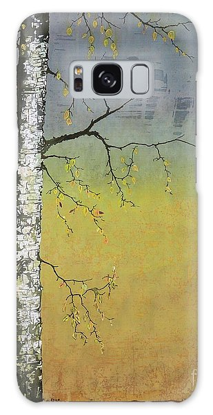Birch In A Golden Field Galaxy Case