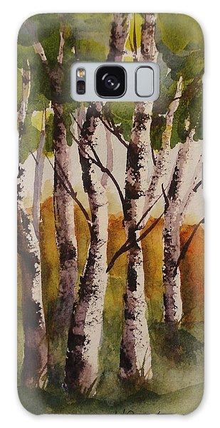 Birch Galaxy Case by Marilyn Jacobson