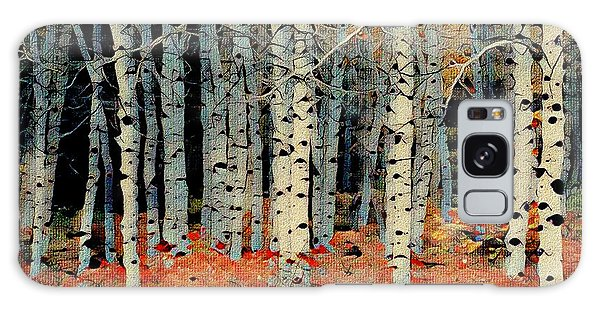 Birch Tree Forest 1 Galaxy Case
