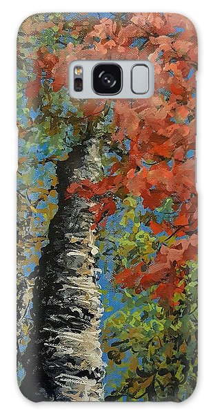 Birch Tree - Minister's Island Galaxy Case