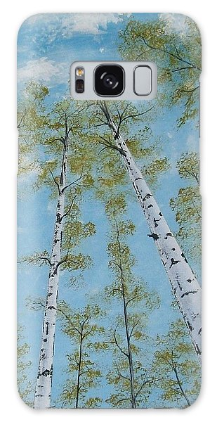 Birch Trees And Sky Galaxy Case