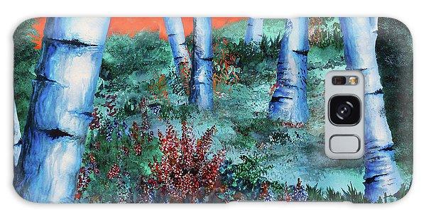 Birch Trees At Sunset Galaxy Case