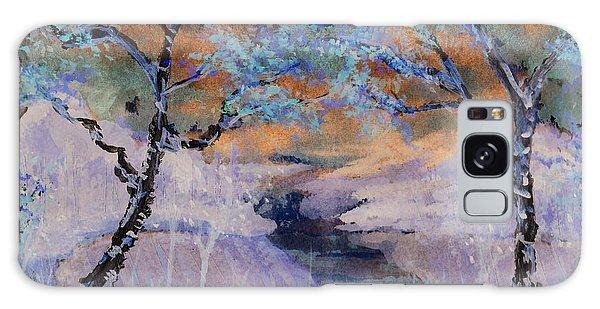 Birch Trees On The Ridge 2 Galaxy Case