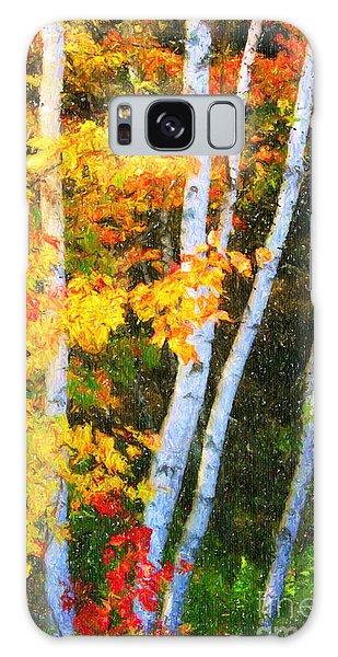 Birch Trees Galaxy Case by Verena Matthew