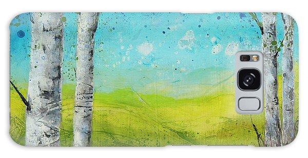 Birches In Green Galaxy Case