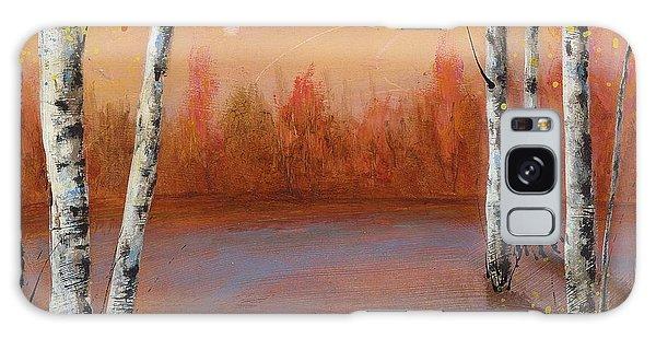 Birches In The Fall Galaxy Case