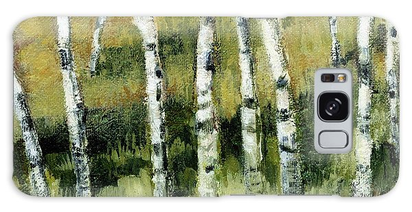 Birches On A Hill Galaxy Case