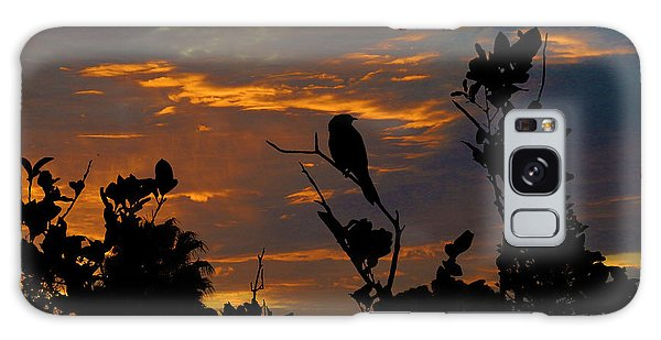 Bird At Sunset Galaxy Case