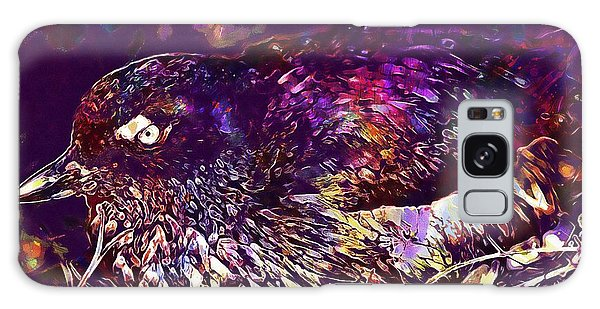 Bird Cassins Auklet Crested Birds  Galaxy Case