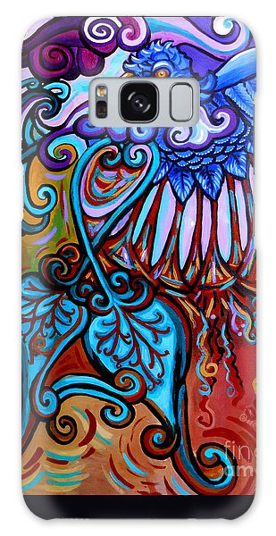 Bird Heart II Galaxy Case by Genevieve Esson