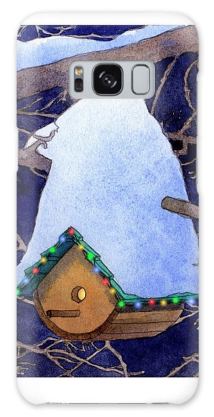 Bird House Christmas Galaxy Case