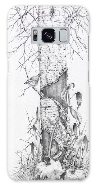 Bird In Birch Tree Galaxy Case