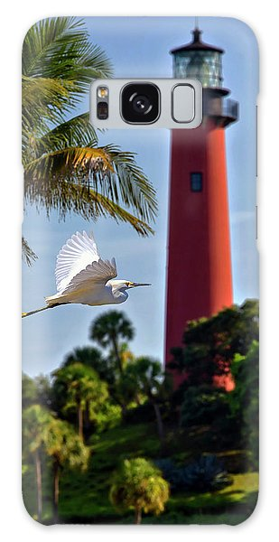 Bird In Flight Under Jupiter Lighthouse, Florida Galaxy Case
