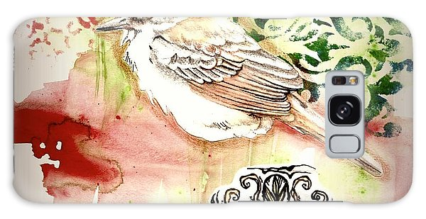 Galaxy Case featuring the mixed media Bird Love by Rose Legge