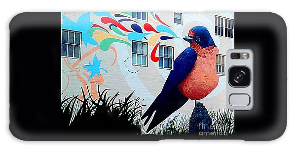 San Francisco Blue Bird Painting Mural In California Galaxy Case