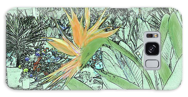 Galaxy Case featuring the photograph Bird Of Paradise In The Hothouse by Nareeta Martin