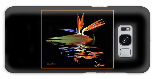 Bird Of Paradise On Water Galaxy Case