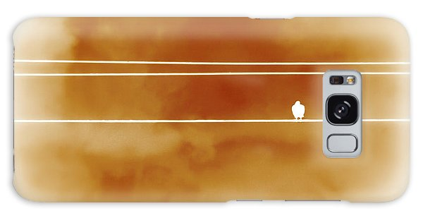 Bird On A Wire Orange Galaxy Case