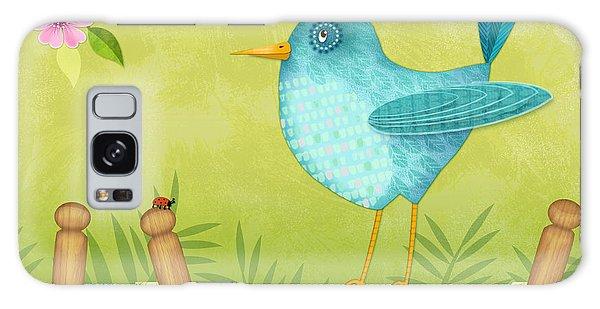 Bird On Clothesline Galaxy Case