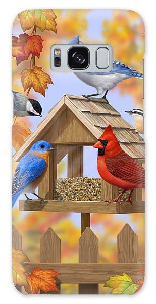 Song Bird Galaxy Case - Bird Painting - Autumn Aquaintances by Crista Forest