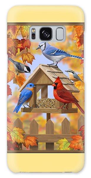 Chickadee Galaxy S8 Case - Bird Painting - Autumn Aquaintances by Crista Forest