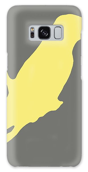 Bird Silhouette Gray Yellow Galaxy Case