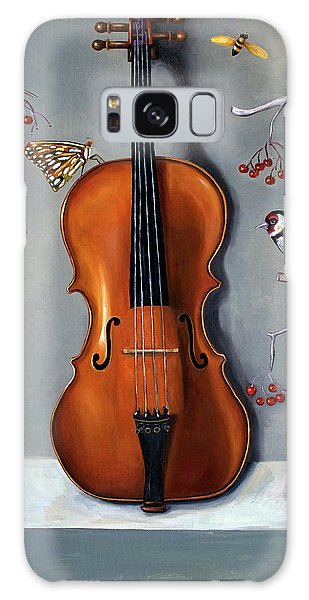 Violin Galaxy Case - Bird Song by Leah Saulnier The Painting Maniac