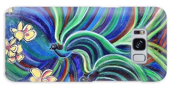 Bird Symphony With Frangipani Galaxy Case