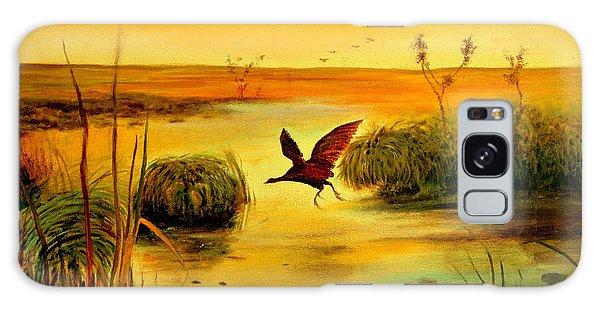 Bird Water Galaxy Case by Henryk Gorecki