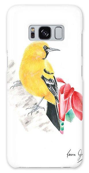 Bird In Yellow Galaxy Case