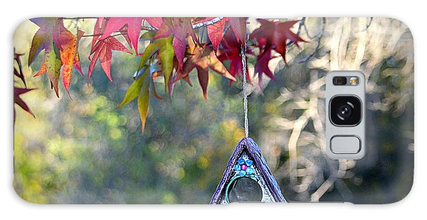 Galaxy Case featuring the photograph Birdhouse Under The Autumn Leaves by AJ Schibig