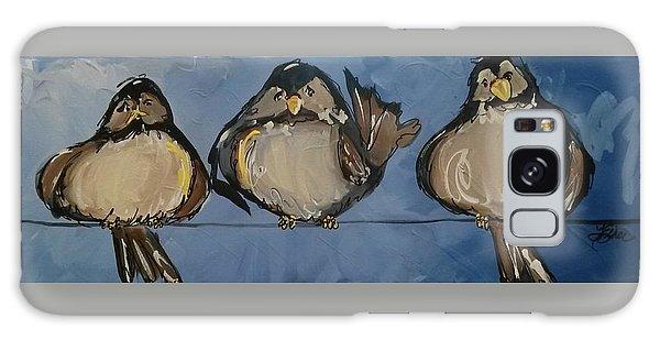 Birdies On A Wire Galaxy Case