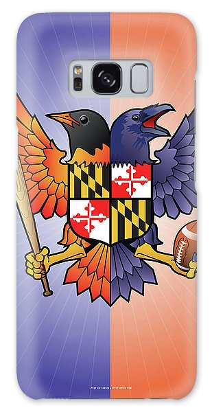 Birdland Baltimore Raven And Oriole Maryland Crest Galaxy Case