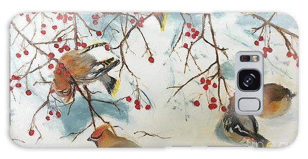Cedar Waxing Galaxy S8 Case - Birds And Berries by Diane Donati
